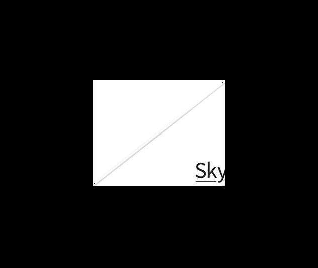 SKYEXTR90WH_-_2109-_Skyfan_900_Extension_White
