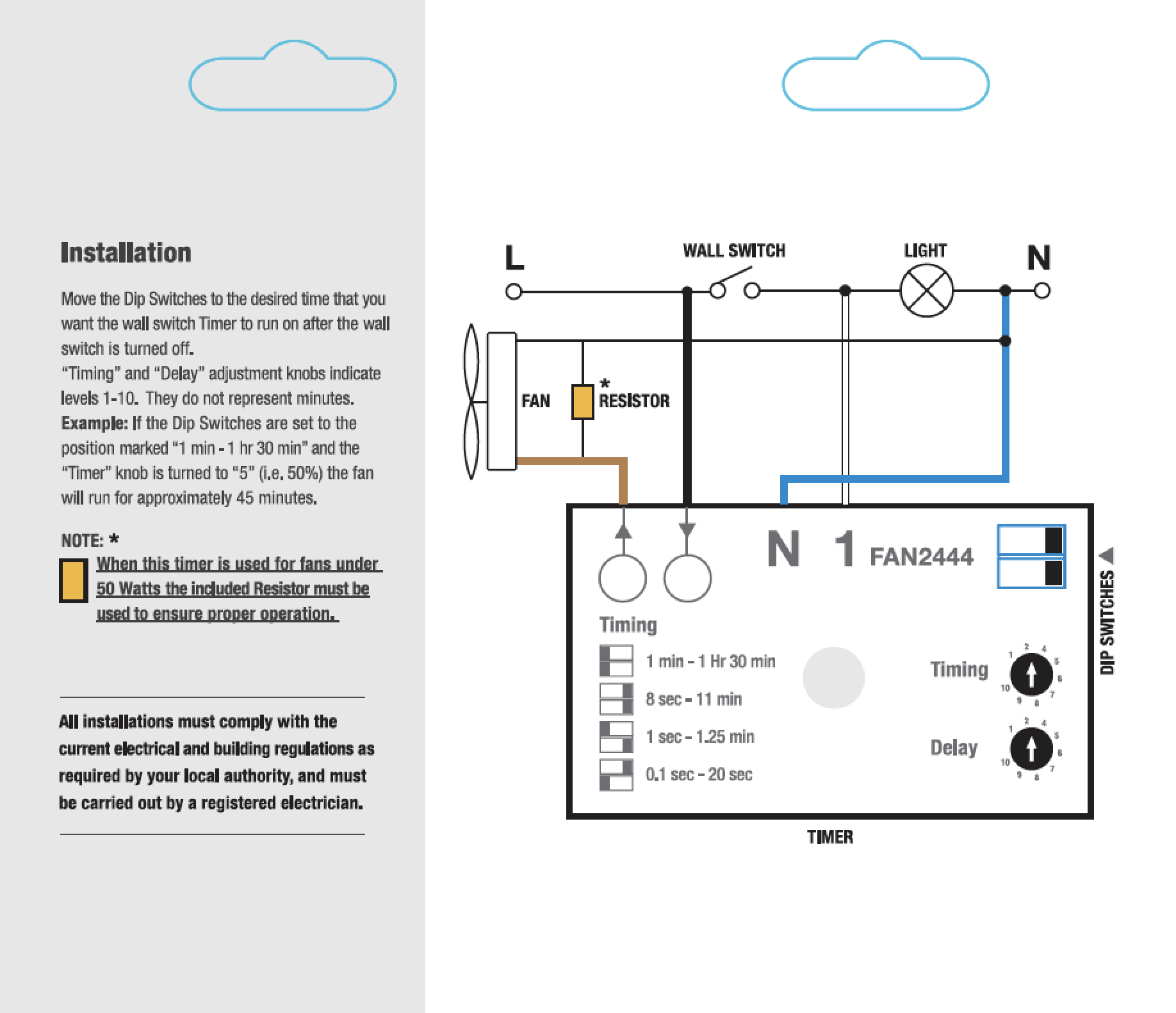 Simx Fully Adjustable Run On Fan Timers Smart Vent Wiring Diagram Downloads