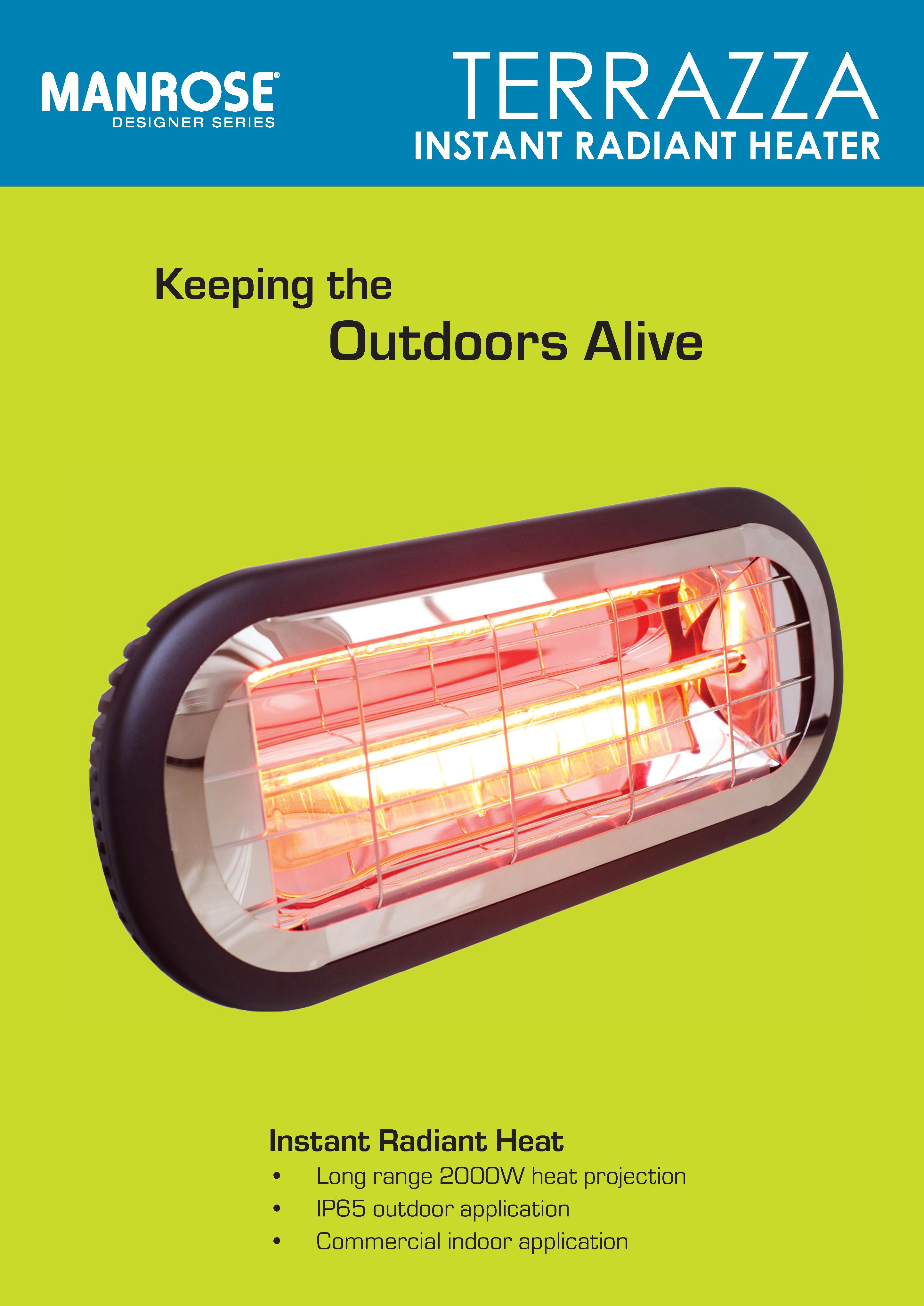 Terrazza Instant Radiant Heater Brochure