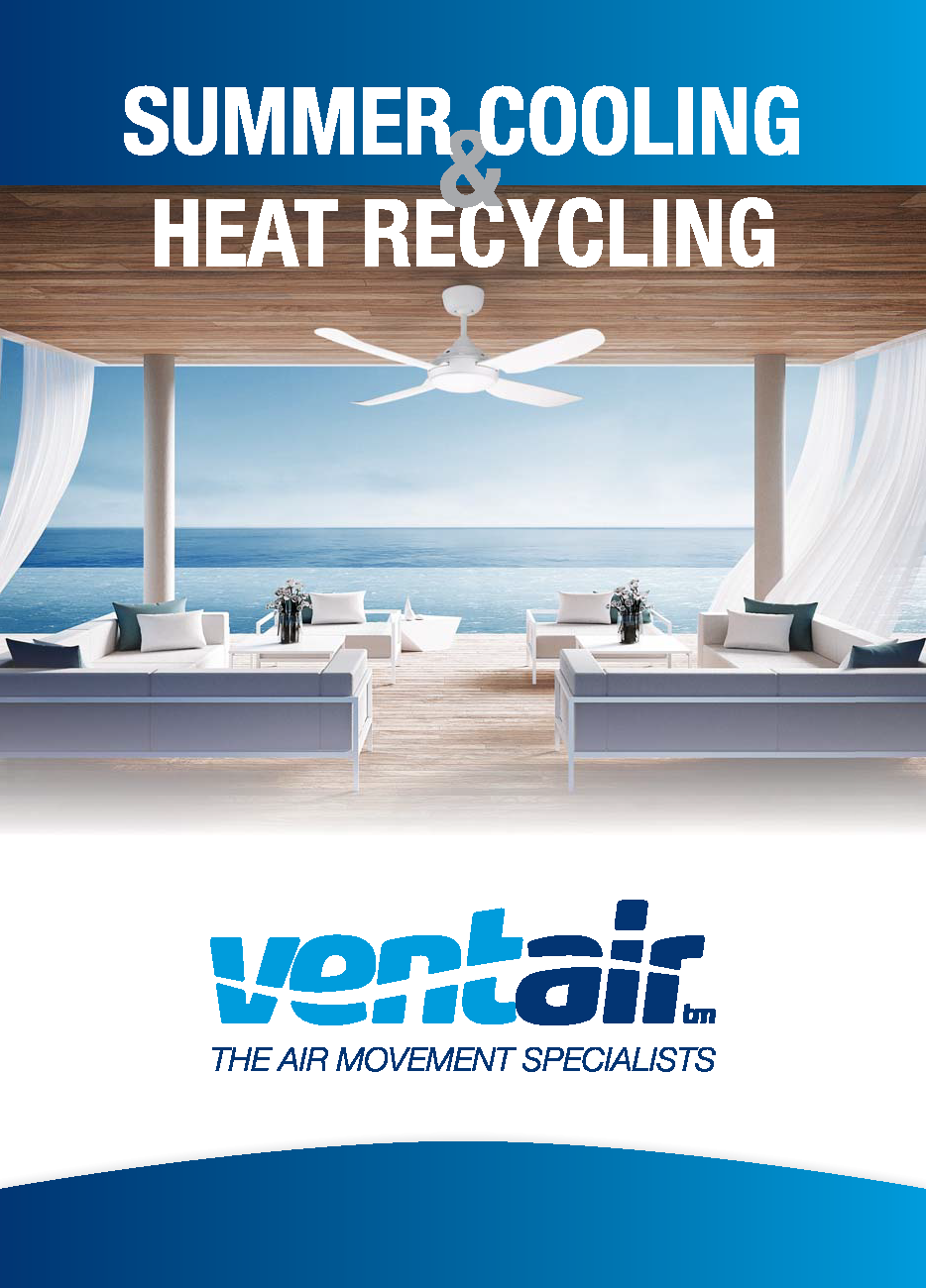 Ventair Summer Cooling and Heat Recycling Brochure
